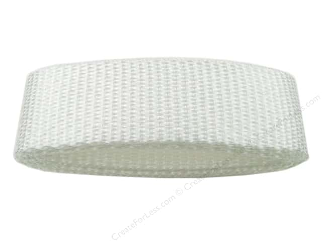 "PA Essentials Polypropylene Webbing 1""x 36"" Package White"