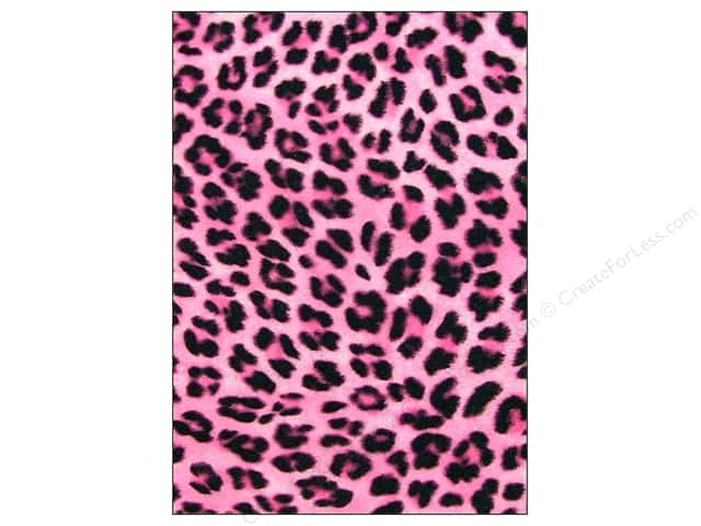 CPE Printed Felt 9 x 12 in. Cheetah Pink (12 sheets)