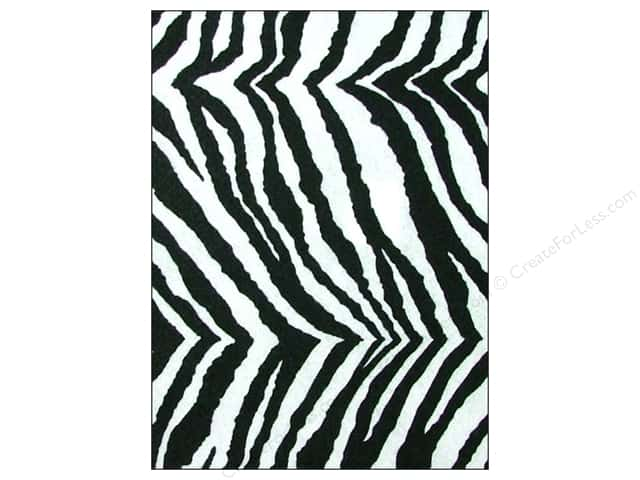 CPE Printed Felt 9 x 12 in. Zebra (12 sheets)