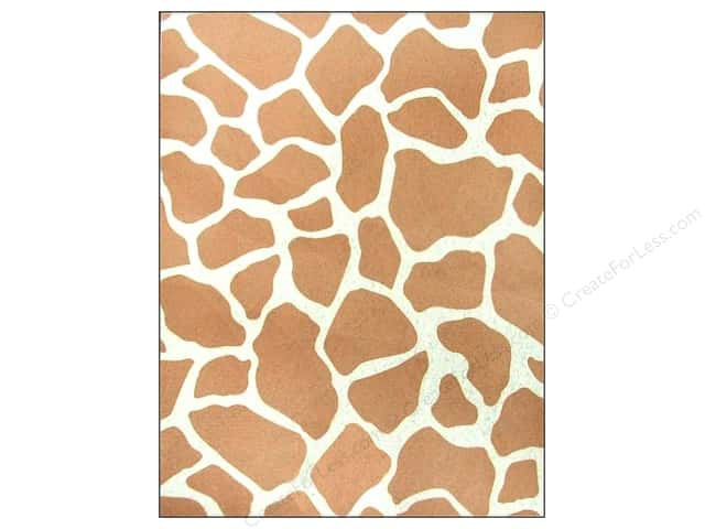 CPE Printed Felt 9 x 12 in. Giraffe Brown (12 sheets)