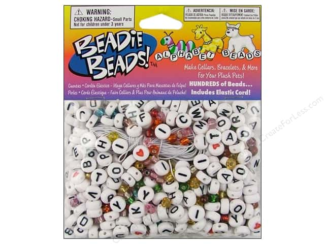Darice Alphabet Bead Kit 300 pc. White