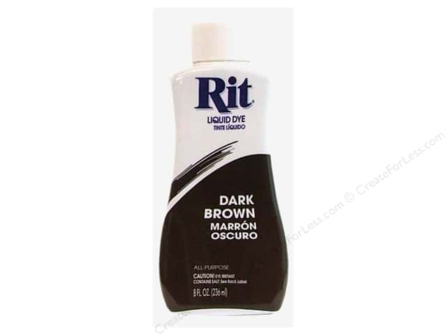 Rit Dye Liquid Dye 8 oz. Dark Brown