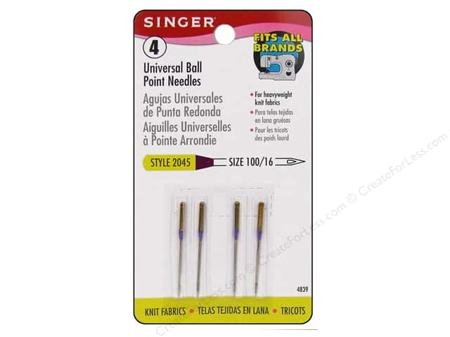 Singer Machine Needle Ball Point Size 16 4pc