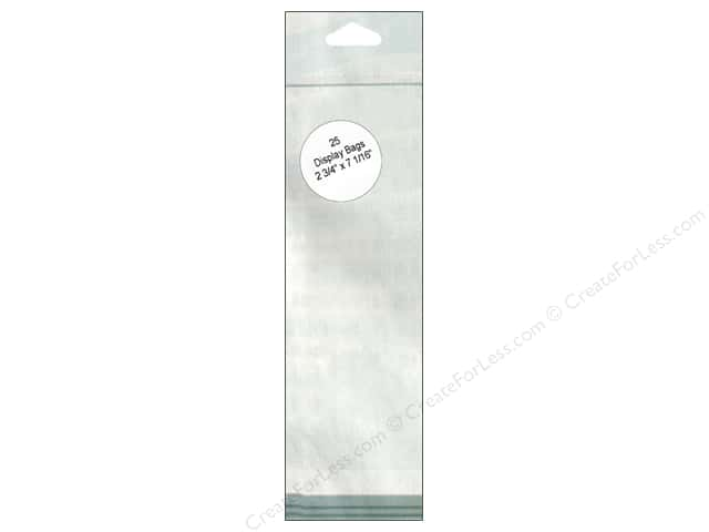 Paper Accents Display Bag 2 3/4 x 7 1/16 in. Clear 25 pc.