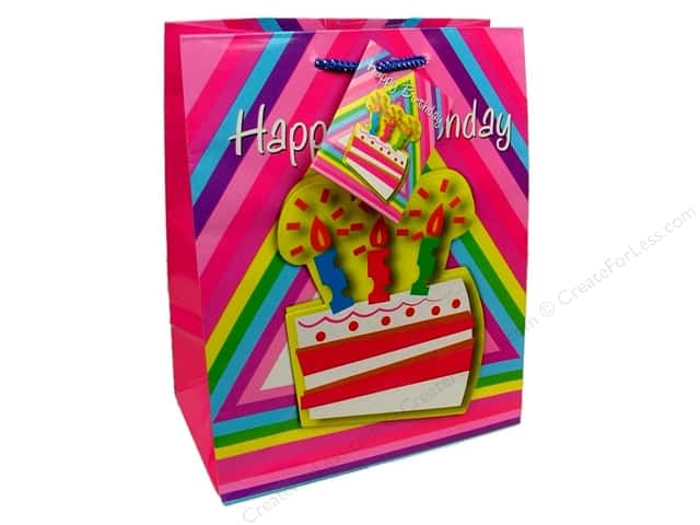Medium Gift Bag by Cindus 3D Birthday Cake