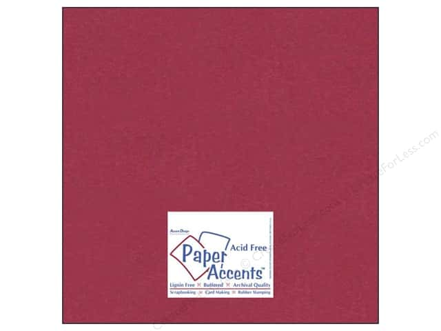 Cardstock 12 x 12 in. #836 Silk Raspberry Fizz by Paper Accents (25 sheets)