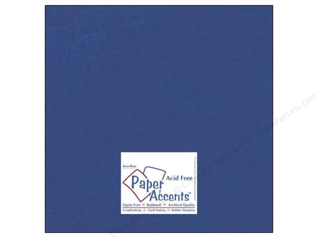Cardstock 12 x 12 in. #837 Silk Blue Topaz by Paper Accents (25 sheets)