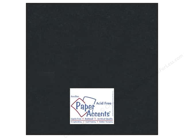 Cardstock 12 x 12 in. #839 Silk Black Satin by Paper Accents (25 sheets)