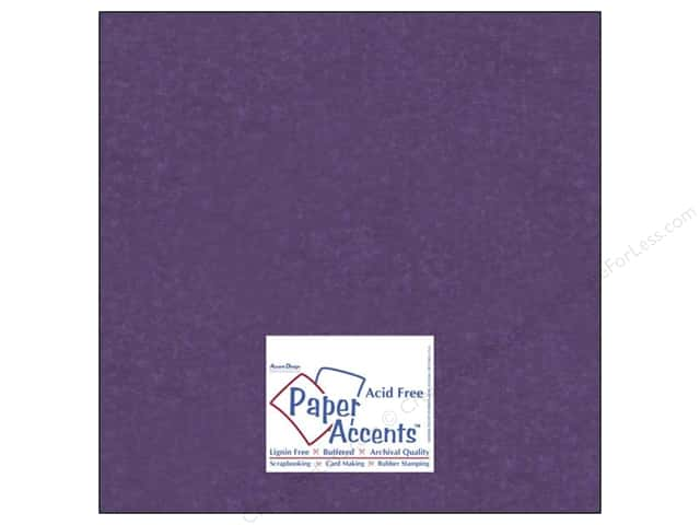 Paper Accents Cardstock 12 x 12 in. #840 Silk Plush Purple (25 sheets)