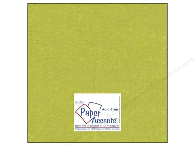 Cardstock 12 x 12 in. #841 Silk Luscious Lime by Paper Accents (25 sheets)