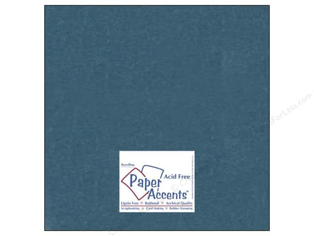 Cardstock 12 x 12 in. #838 Silk Tranquil Teal by Paper Accents (25 sheets)