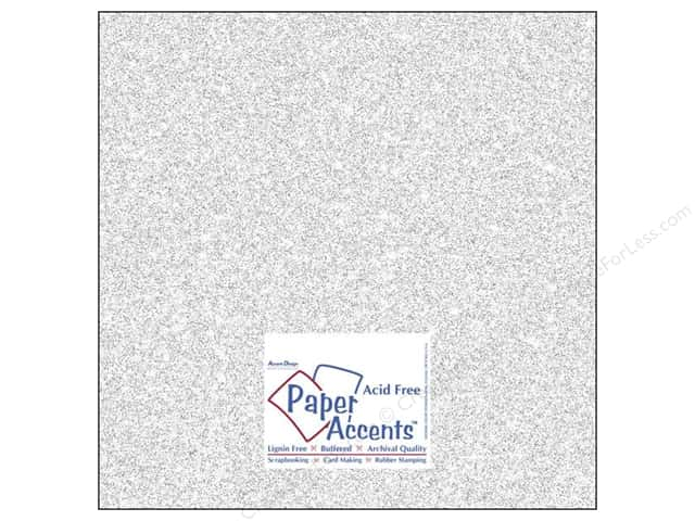 Cardstock 12 x 12 in. #5101 Glitz Silver/Fairy Dust by Paper Accents (25 sheets)