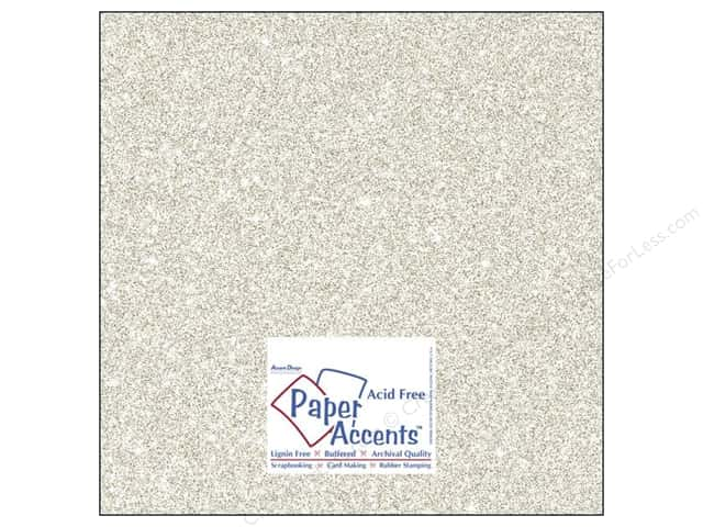 Cardstock 12 x 12 in. #5102 Glitz Silver/Champagne by Paper Accents (25 sheets)