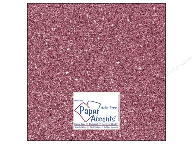 Cardstock 12 x 12 in. #5106 Glitz Silver/Rose Bud by Paper Accents (25 sheets)