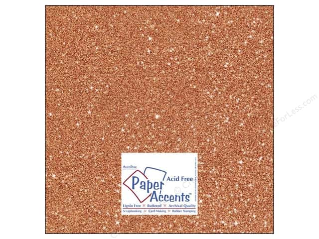 Cardstock 12 x 12 in. #5109 Glitz Silver/Tangerine by Paper Accents (25 sheets)