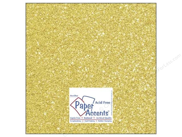 Cardstock 12 x 12 in. #5110 Glitz Silver/Daffodil by Paper Accents (25 sheets)