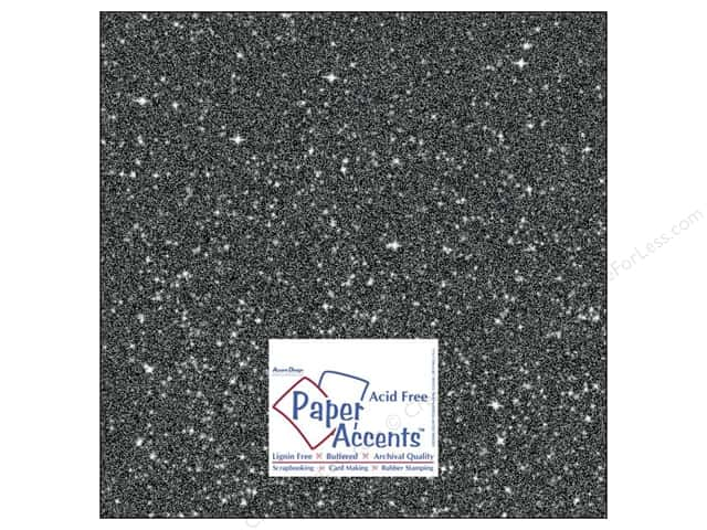 Cardstock 12 x 12 in. #5118 Glitz Silver/Midnight by Paper Accents (25 sheets)