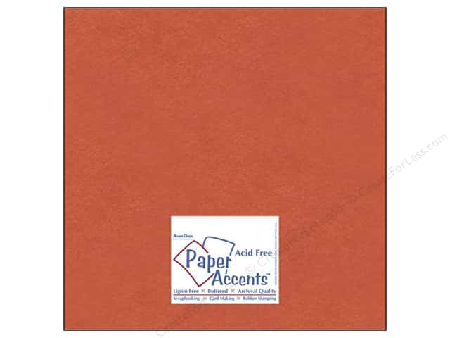 Paper Accents Cardstock 12 x 12 in. #8083 Muslin Construction Orange (25 sheets)