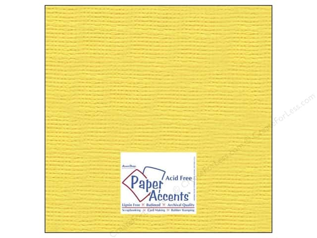 Cardstock 12 x 12 in. #8084 Muslin Sunshine Yellow by Paper Accents (25 sheets)