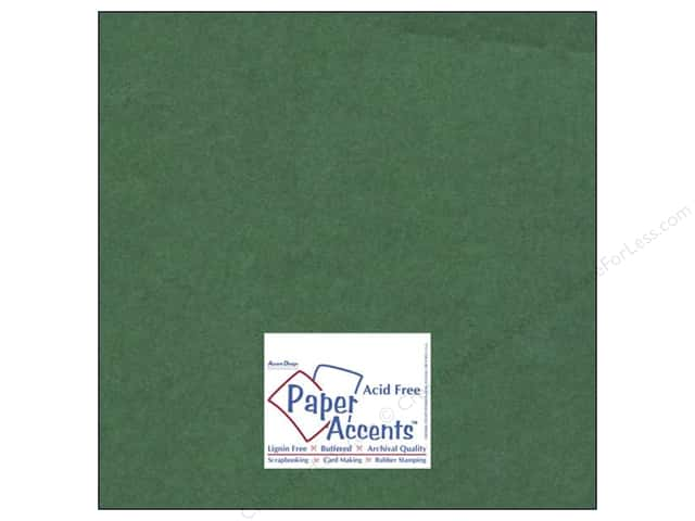 Cardstock 12 x 12 in. #8085 Muslin Green Grass by Paper Accents (25 sheets)