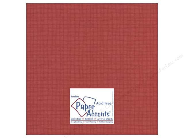 Cardstock 12 x 12 in. #8087 Muslin Schoolhouse Red by Paper Accents (25 sheets)