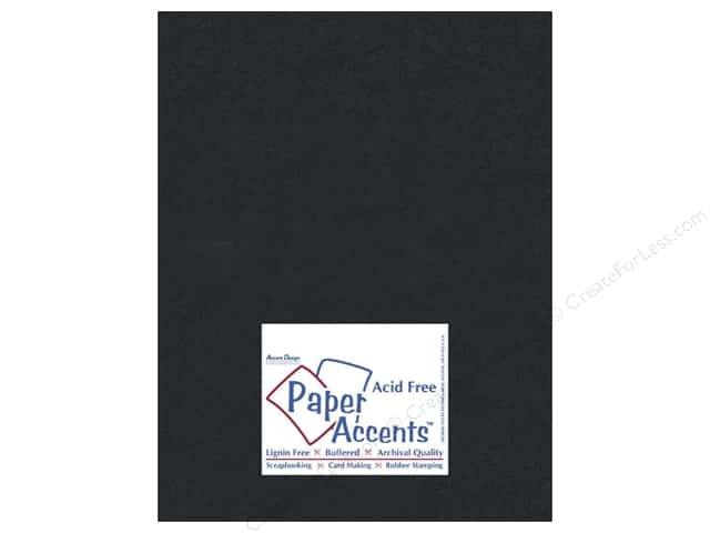 Paper Accents Cardstock 8 1/2 x 11 in. #839 Silk Black Satin (25 sheets)