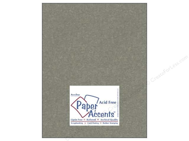 Paper Accents Cardstock 8 1/2 x 11 in. #842 Silk Gilded Pewter (25 sheets)