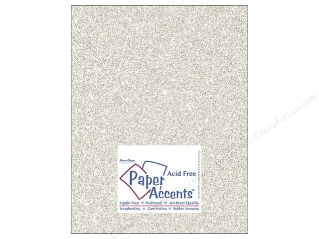 Cardstock 8 1/2 x 11 in. #5102 Glitz Silver/Champagne by Paper Accents (25 sheets)