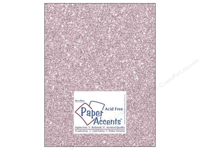 Cardstock 8 1/2 x 11 in. #5103 Glitz Silver/Petal Pink by Paper Accents (25 sheets)