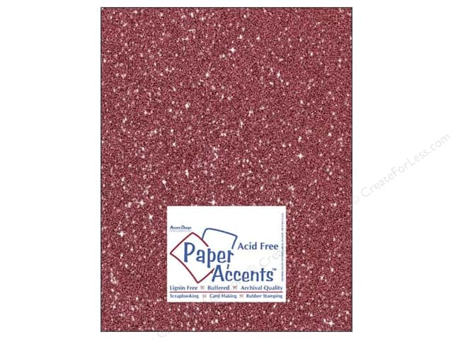 Cardstock 8 1/2 x 11 in. #5107 Glitz Silver/Crimson by Paper Accents (25 sheets)