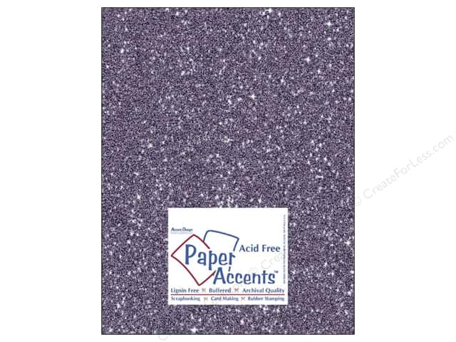 Cardstock 8 1/2 x 11 in. #5116 Glitz Silver/Violet by Paper Accents (25 sheets)