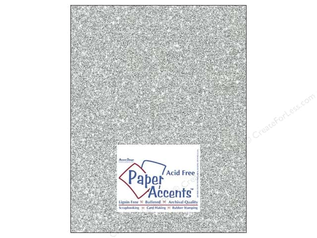 Cardstock 8 1/2 x 11 in. #5117 Glitz Silver/Platinum by Paper Accents (25 sheets)