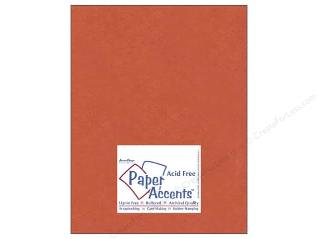Paper Accents Cardstock 8 1/2 x 11 in. #8083 Muslin Construction Orange (25 sheets)