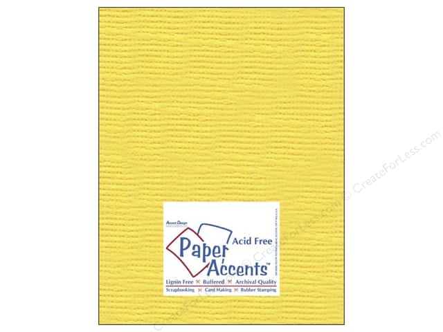 Cardstock 8 1/2 x 11 in. #8084 Muslin Sunshine Yellow by Paper Accents (25 sheets)