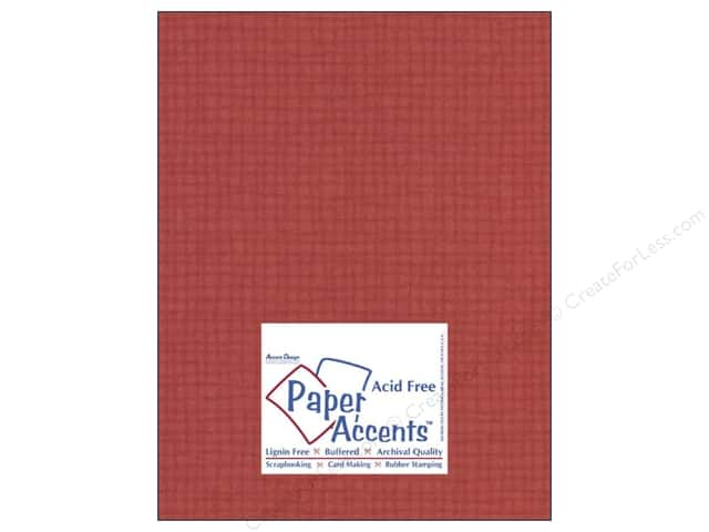 Paper Accents Cardstock 8 1/2 x 11 in. #8087 Muslin Schoolhouse Red (25 sheets)