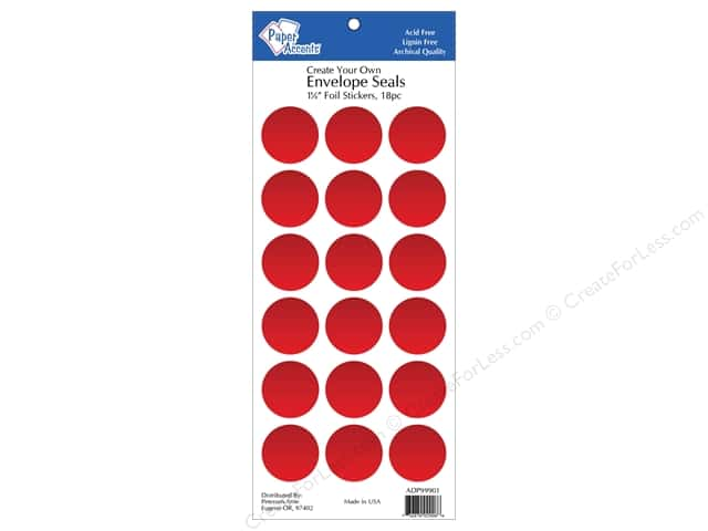 Paper Accents Envelope Seals 1 1/8 in. Red Foil 18 pc.