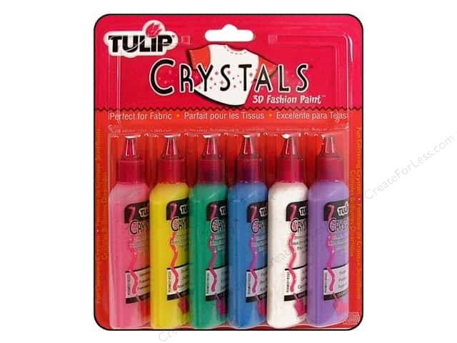 Tulip 3D Fashion Paint Set Crystals 6 pc.