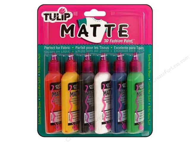 Tulip 3D Fashion Paint Set Matte 6 pc.