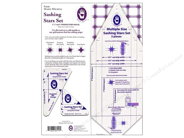 Marti Michell Template Sashing Stars Set