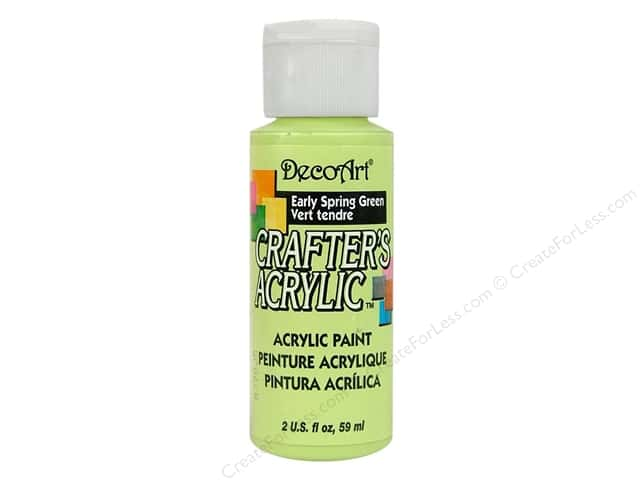 DecoArt Crafter's Acrylic Paint 2 oz. #81 Early Spring Green