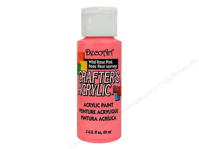DecoArt Crafter's Acrylic Paint 2 oz. #69 Wild Rose Pink