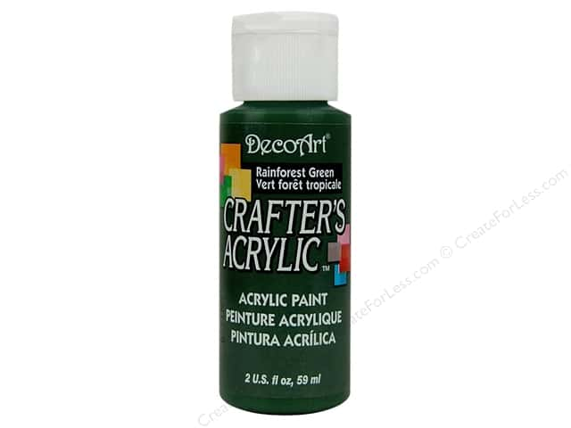 DecoArt Crafter's Acrylic Paint 2 oz. #91 Rainforest Green