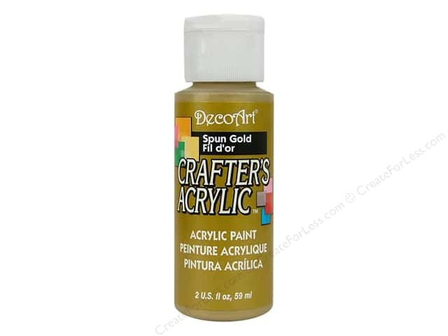 DecoArt Crafter's Acrylic Paint 2 oz. #96 Spun Gold
