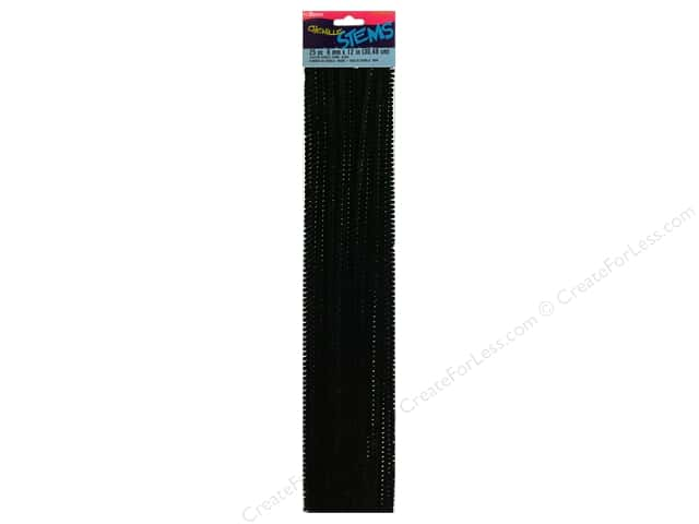 Chenille Stems by Darice 6 mm x 12 in. Black 25 pc.