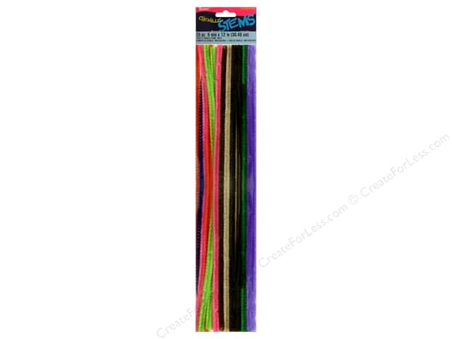 Chenille Stems by Darice 6 mm x 12 in. Multi Color 25 pc.