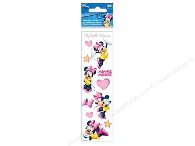 EK Disney Sticker 3D Slims Minnie Mouse Hearts