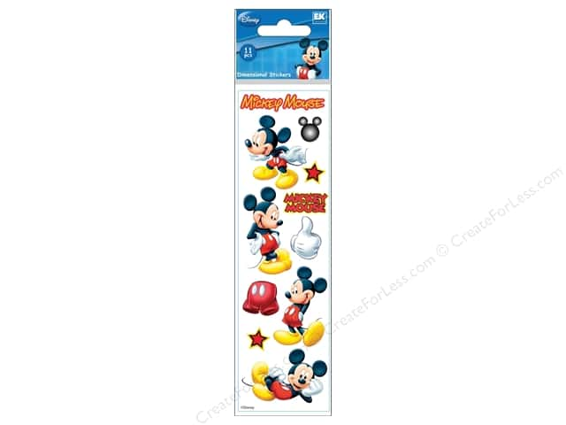 EK Disney Dimensional Stickers Slim Mickey Mouse