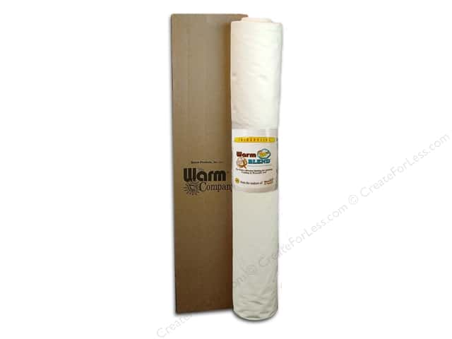 The Warm Company Warm Blend Cotton/ Polyester Batting 110 in. x 15 yd. (15 yards)