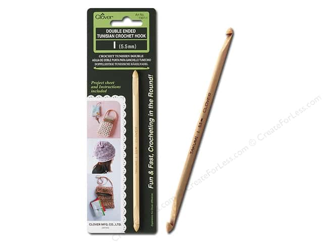 Clover Crochet Hook Tunisian Double Ended Size I