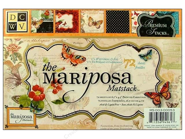 Die Cuts With A View 6 1/2 x 4 1/2 in. Cardstock Mat Stack Mariposa